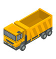 construction truck icon isometric style vector image vector image