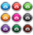 cream container set 9 collection vector image vector image