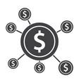 crowdfunding icon vector image vector image