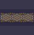 decorative floral stripe pattern ethnic paisley vector image vector image
