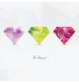 Diamonds Polygonal geometric symbols vector image vector image
