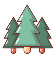 fir tree icon cartoon style vector image vector image