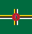 flag of commonwealth of dominica official colors vector image