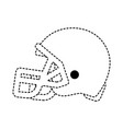 football helmet design vector image vector image