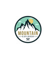 forest mountain adventure explore badge logo vector image vector image