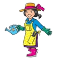 Funny woman gardener Profession series vector image