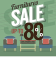 Furniture Sale Up to 80 Percent vector image vector image