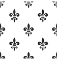 Golden fleur-de-lis seamless pattern white 5 vector image