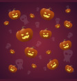 happy halloween banner seamless pattern vector image