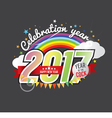 Happy New Year 2017 Year Of The Cock vector image