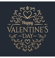 Happy Valentines day Golden lettering vector image vector image