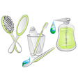 hygiene items vector image vector image