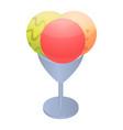 ice cream balls icon isometric style vector image