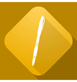 icon of Pen with a long shadow vector image vector image