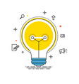 idea lines design bulb flat vector image