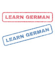 Learn german textile stamps