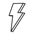line nice light thunder art design vector image vector image