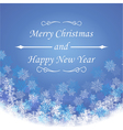 Merry christmas and new year greeting festive card vector image vector image
