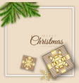 merry christmas background minimal design vector image
