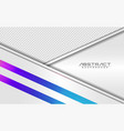 modern white and colorful futuristic background vector image vector image