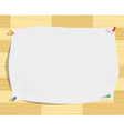 paper sheet on wood background vector image vector image
