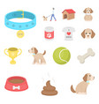 pet dog cartoon icons in set collection for design vector image