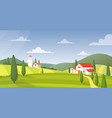 rural landscape panorama flat vector image