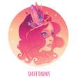 sagittarius astrological sign as a vector image vector image