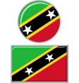 Saint Kitts and Nevis round square icon flag vector image