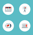 set of advertising icons flat style symbols with vector image vector image