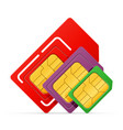 sim card chip for use in digital communication vector image vector image