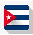 Simple flat icon Cuba flag vector image
