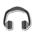 single headphones icon vector image vector image