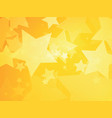 stars yellow background vector image vector image
