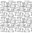 summer seamless pattern with crabs vector image