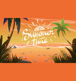 summertime on ocean coast vector image vector image