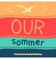 Symbol of summer vacation vector image vector image