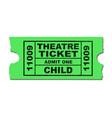 theatre ticket child vector image vector image