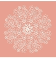 White lace serviette on pink background vector image