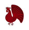 zodiac symbol red rooster vector image