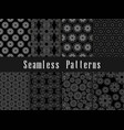 black and white vintage seamless pattern set vector image