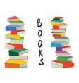 Books piles background for the educational card vector image