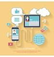 Social networks Cloud of application icons vector image