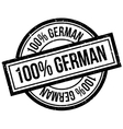 100 percent german rubber stamp vector image vector image