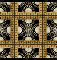 3d checkered vintage greek seamless pattern vector image vector image