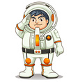 A fat astronaut vector image vector image
