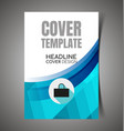 abstract report cover9 vector image vector image