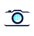 aero photography logo design template vector image vector image