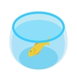 Aquarium with goldfish isometric 3d icon vector image vector image
