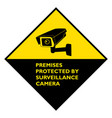 attention premises protected surveillance vector image vector image